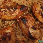 Rice with Peas, Carrots and Grilled Chicken